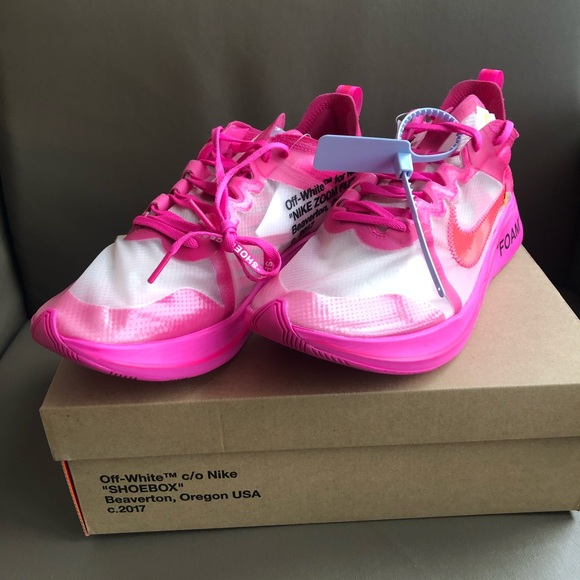 """fd1d352e62ff Off White x Nike """"The Ten"""" Zoom Fly Pink"""
